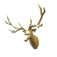 Deer head decoration wall hanging Nordic style living room TV wall background ornaments modern minimalist geometry