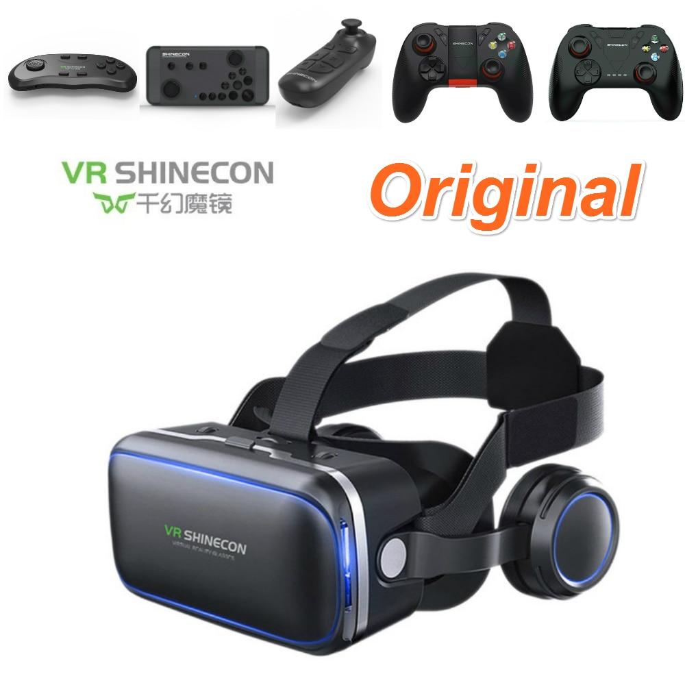 Caixa de Óculos de Realidade Virtual VR VR 3D Shinecon Casque Estéreo Óculos  de Fone de Ouvido do Capacete Para O Smartphone Inteligente Cartão de  Telefone ... 798824128c