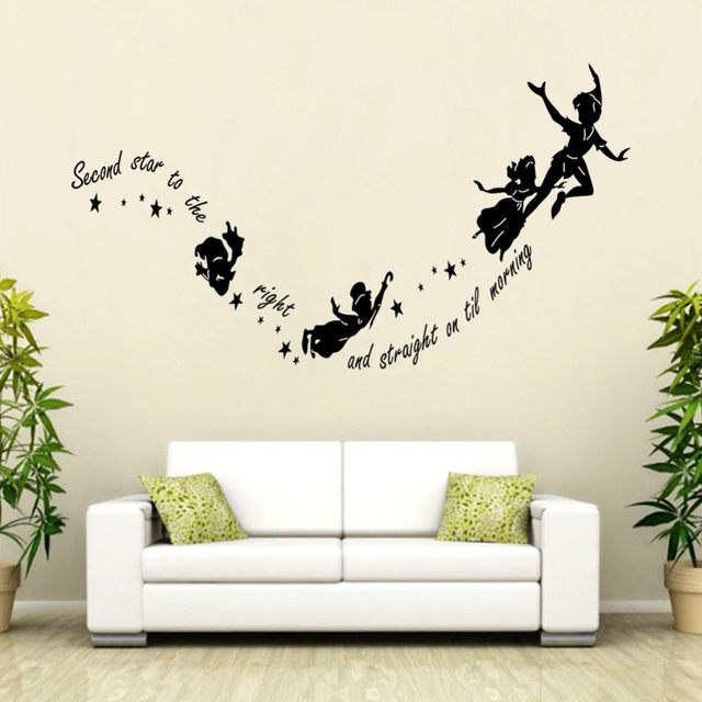 Attractive Kids Room Decoration Tinkerbell Second Star To The Right Peter Pan Wall  Decal Wall Sticker Home Art Mural
