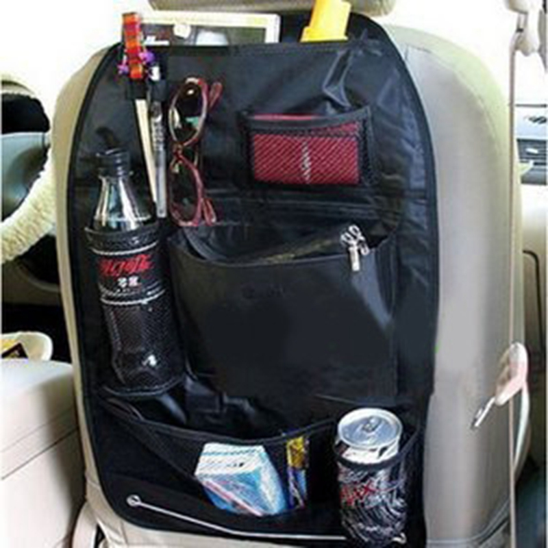 1 pc 58 * 37.5CM Black cloth car multi-functional chair backpack seat back debris hanging bag storage bag with no packing