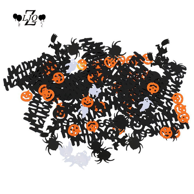 ZLJQ 15g Happy Halloween Confetti Witch Pumpkin Ghost Bat Skeleton  Sprinkles Table Confett Halloween Night Party