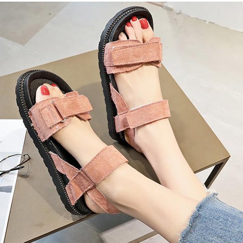 Aktiv Puimentiua 2019 Süße Bogen Sommer Frauen Sandalen Flache Schuhe Offene Spitze Alias Römischen Frau Casual Schuhe Damen Flip-flops Schuhe