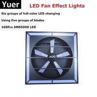 LED Fan Effect Lights 160Pcs SMD5050 LEDS LED Stage Lights DMX512 Disco Laser Lights Lumiere Christmas Laser Projector Dj Light