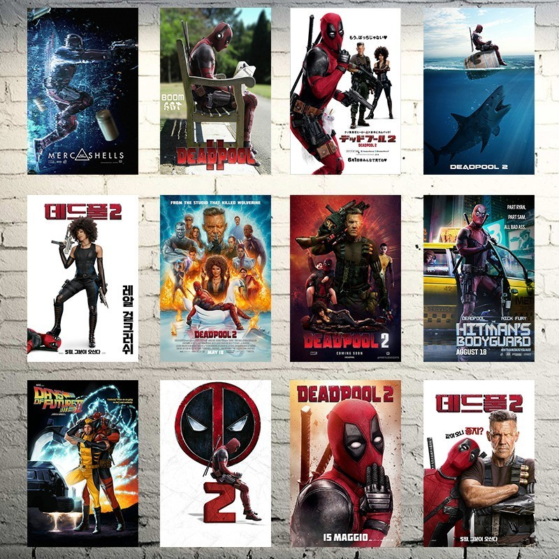Deadpool 2 2018 Hot Movie Art Silk Canvas Poster 16x16 24x24 inches