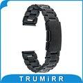 18mm correa de acero inoxidable para huawei watch/fit honor s1 asus zenwatch 2 45mm mujeres 2015 de metal band pulsera de la correa negro