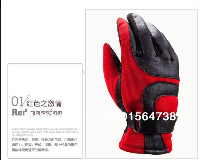 NEW Fashion MEN's Leather Outdoor Cycling Keeping Warm Winter Gloves sport Glove Hot selling free shipping