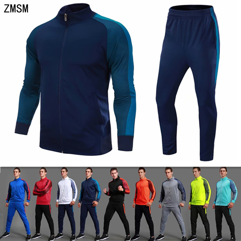 ZMSM Teens adult Autumn Winter Tracksuit Running Sets Soccer Jackets Pants Outdoor Jogging Fitness Coat Football