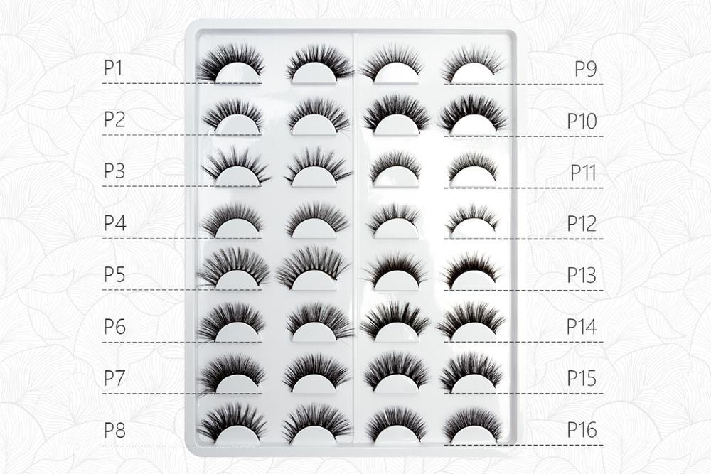 cutsomize 3D Mink Strip Eyelashes faux Lashes Handmade Full Strips Eye Lashes 32 Styles natural long luxury free shipping in False Eyelashes from Beauty Health