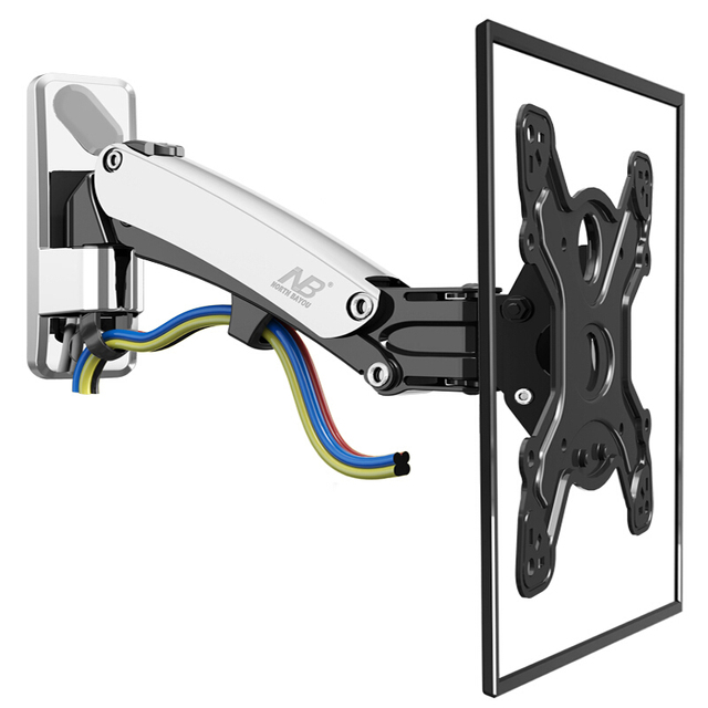 Nb F400 Tv Wall Mount Swivel 50 60 Inch Monitor Arm Holder Gas Spring Free