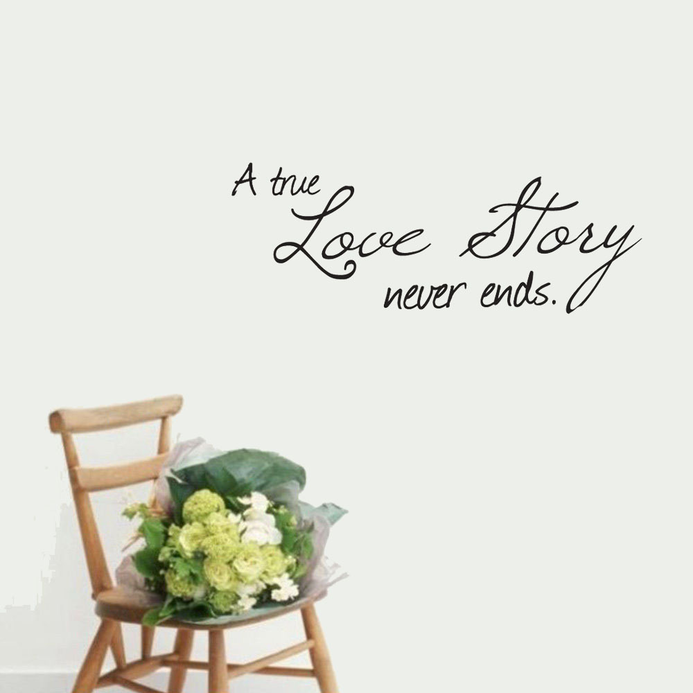 A True Love Story Never Ends Quote: Popular Love Stories True-Buy Cheap Love Stories True Lots