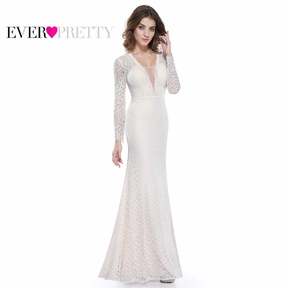 Mermaid Long Sleeve Evening Dresses Ever Pretty EP08813CR ...