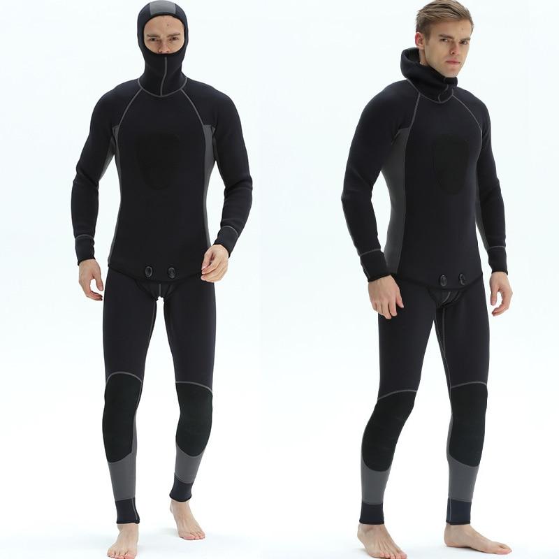 Split Type Wetsuit Men Full Body Diving Suits Surfers Divers Windsurfers Canoeists Scuba Diving Snorkeling 3mm
