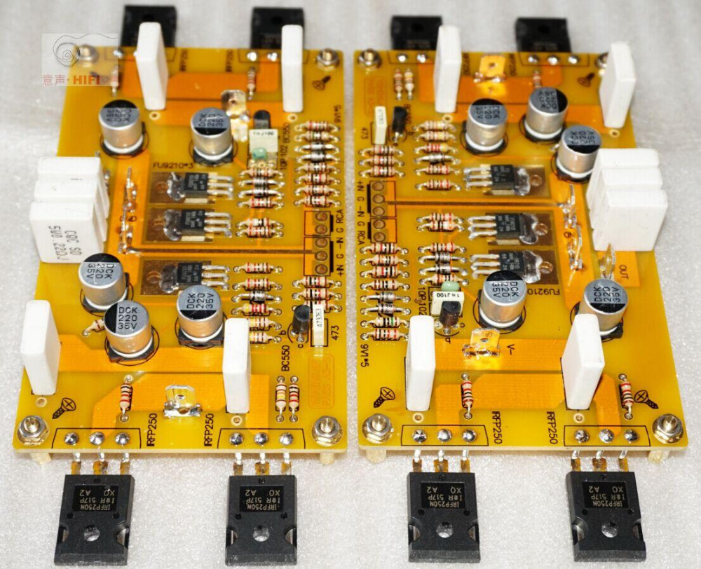 2015 NEW HIFI-STORE Assembled 2 Channel PASS A3 Single-ended 30W Class A amplifier board L1511-35