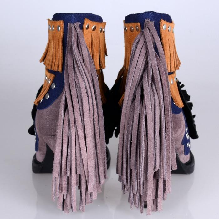 Gland Mujer Suede Dentelle Fringe Talons Gladiateur Feminina Cheville Zapatos Femmes gris Botas Femme Bleu Bottes Chaussures D'hiver Haute Top Up wYxdT7qT