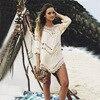 Sexy White Girls Beach Dress Swim Suit Beachwear Swimwear Women Beach Cover Up Black Swimsuit Hollow