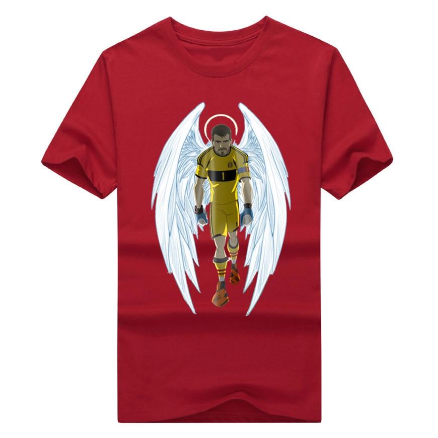 01ebda7f6 Newest 2018 the saint of spain iker casillas T Shirt 100% cotton popular  Logo T-shirt