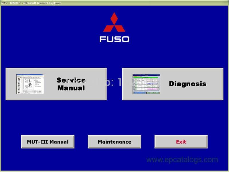 МУТ III (на Фусо версия) ФМС-Е14-3 (диагностическая система) 2014 для Мицубиси