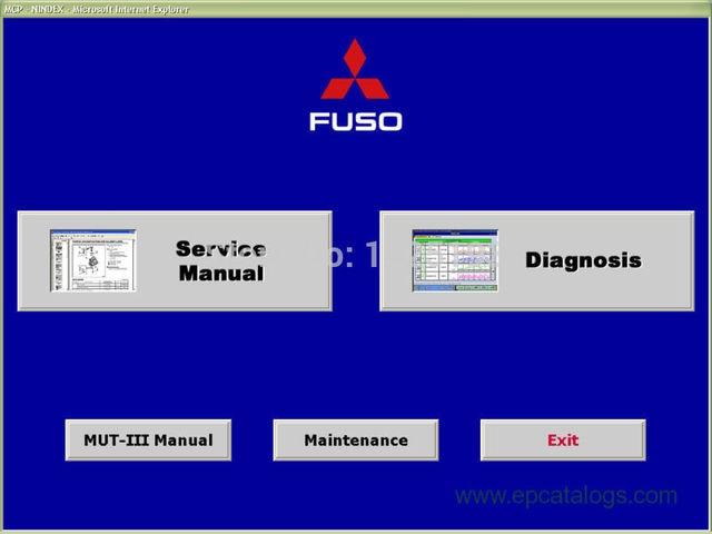 MUT III (Fuso version) FMS-E14-3 (diagnostic system) 2014 For Mitsubishi