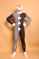 (A5 044)Clown Pattern Full Body Lycra Spandex Zentai Suit Halloween Costume,Fetish Zentai Suits For Party Celebration