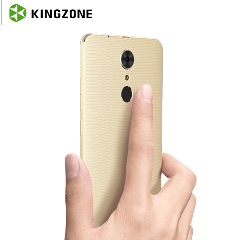 bilder für Kingzone S3 5 Zoll Smartphone Android 6.0 MT6580 Quad Core 1 GB + 16 GB Fingerabdruck Entsperren 3G Dual SIM stoßfest Handy 2600 mAh GPS