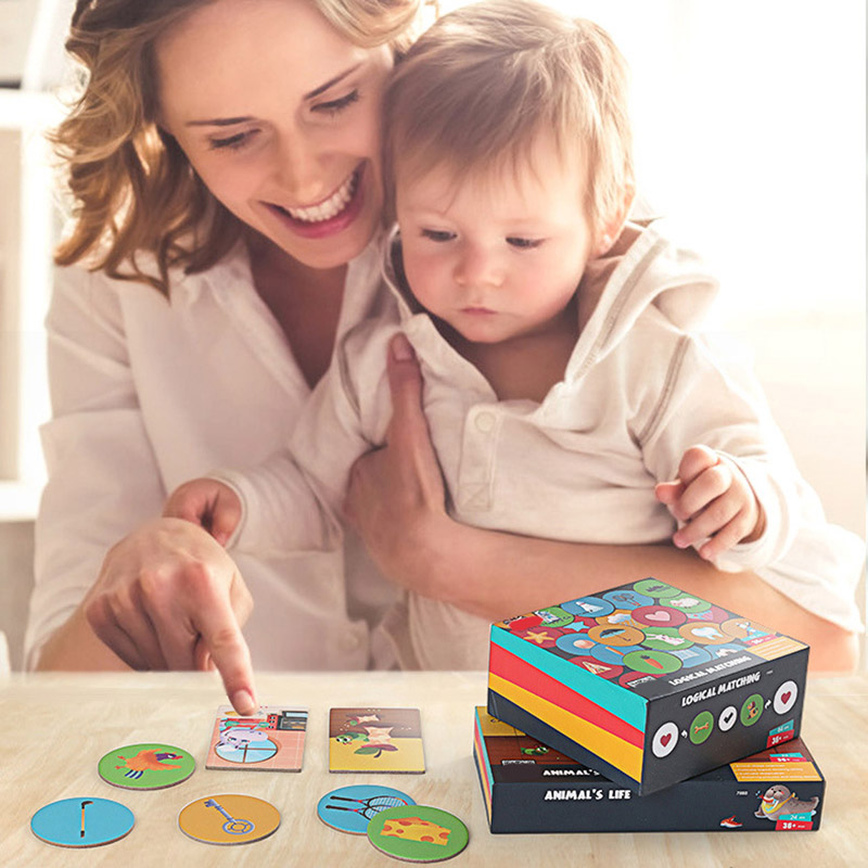 Children Develop Logic Reasoning Skills Toy Montessori Materials Cognitive Training Cards  Kids Baby Early Educational Learning