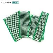 Planche à pain Double face en Fiber de verre, 4 pièces, carte PCB, 5x7, 4x6, 3x7, 2x8CM, FR4, 5x7, 2x8, 4x6, 3x7 CM