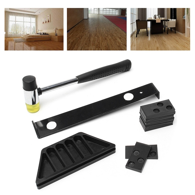 Top Quality Wood Flooring Laminate Installation Kit Set Wooden Floor Fitting Tool Diy Home With Mallet