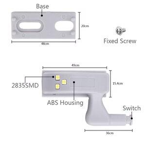 Image 5 - Hot Sale Under Cabinet LED Hinge Light Universal Kitchen Bedroom Living Room Cupboard Wardrobe Inner Auto Switch Light 10pcs