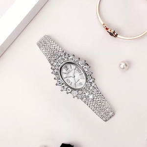Melissa Jewelry Watches Rhinestone Quartz Vintage Japan Femme Fashion Brand Luxury Oval