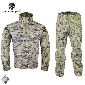 Emersongear All-Weather Tactical Uniform Set Anti-riot Suit Camouflage Combat Uniform Combat Shirt & Pants EM6894R2 AOR2 Велюр