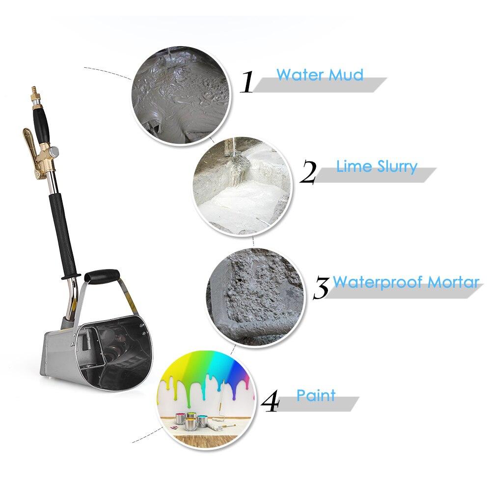 Pistolet professionnel mur mortier pulvérisateur Machine stuc pelle trémie louche ciment pulvérisation Machine Air stuc pulvérisateur plâtre