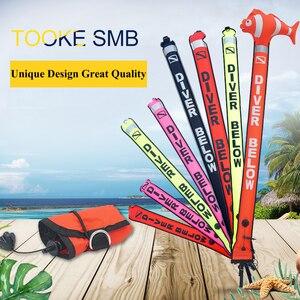 Image 2 - Boya con marcador de superficie de buceo de colores, boya con señal de seguridad submarina SMB, boya flotante con tubo inflable para salchichas 1,5 m 1,2 m 1,8 m