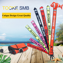 Scuba Colorful Diving Surface Marker Buoy SMB Underwater Safety Signal Buoy Float Inflatable Tube Sausage 1.5m 1.2m 1.8m Buoy(China)