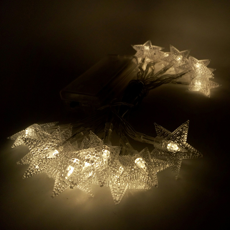 Feimefeiyou 2M 20LEDs Batteridriven Strängfärdsljus LED-stjärna - Festlig belysning - Foto 4