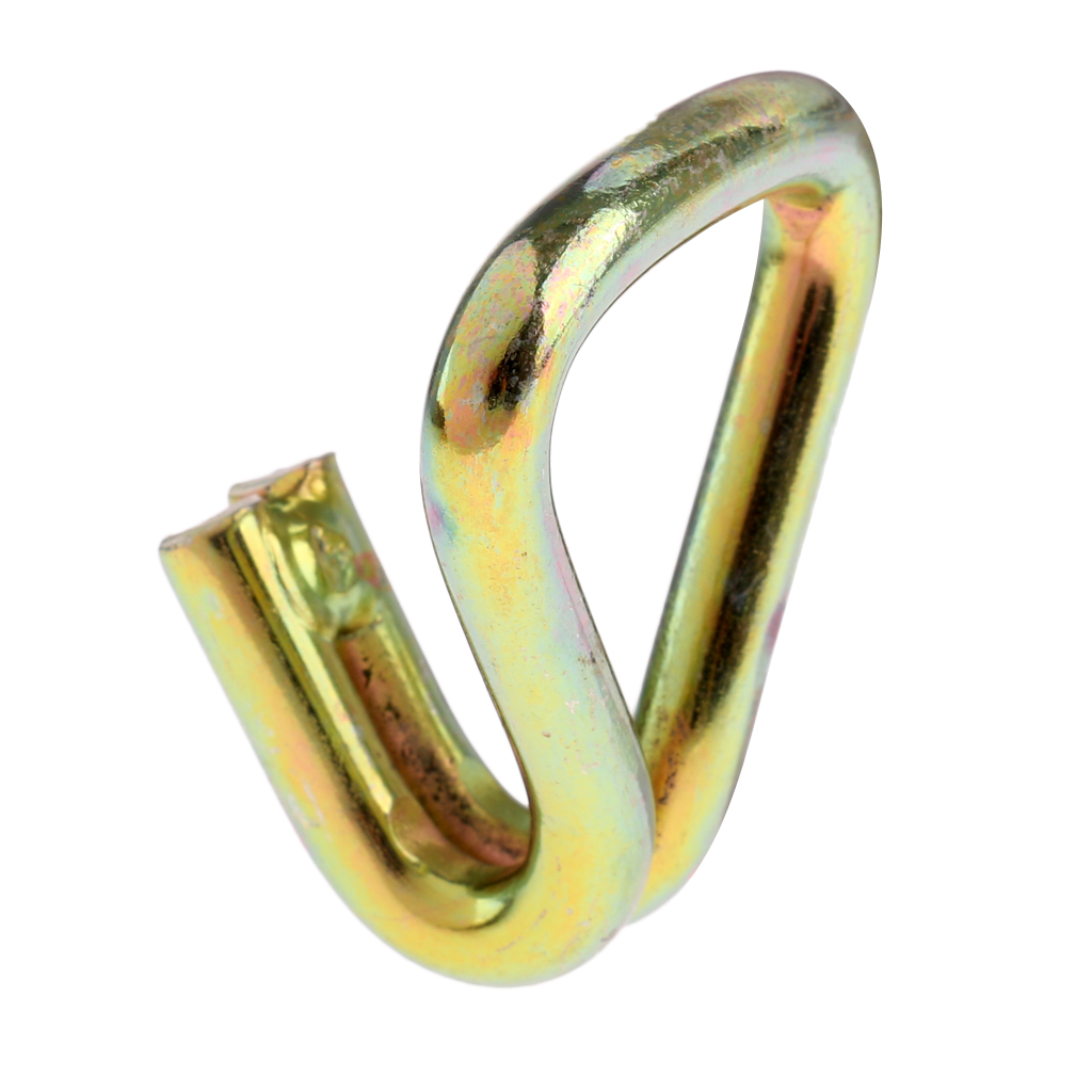 4 peças 25mm garra ganchos para correias do webbing & catraca, amarelo passivated, 850kg max garra ganchos garra hamecons