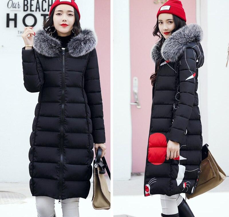 19 winter women hooded coat fur collar thicken warm long jacket female plus size 3XL outerwear parka ladies chaqueta feminino 8