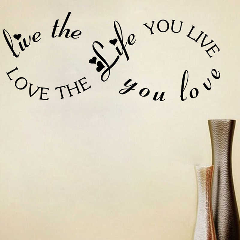 Live the life you Love Quote Vinyl Wall Art Decorative Sticker Decal