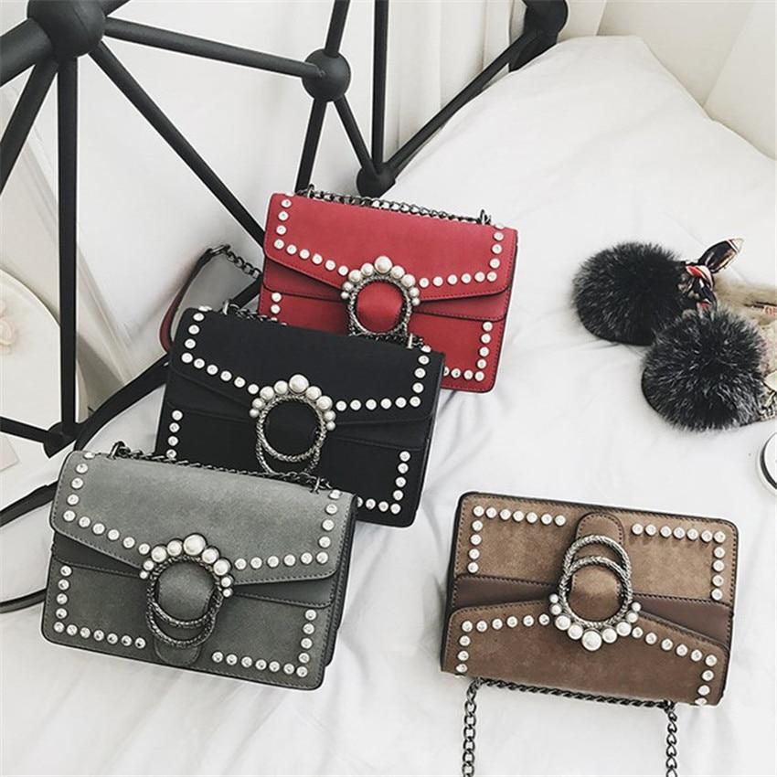 TOYOOSKY Famous Brand Retro Crossbody Bag Small Women Shoulder Bag Diamond Nubuck Leather Luxury Handbags Women Bags designer in Shoulder Bags from Luggage Bags