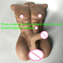 Realistic sex silicone life size torso with 18cm penis and anus hole male sex doll for women or gay