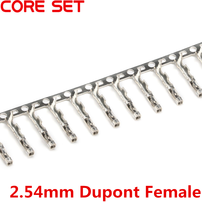 200Pcs/lot 2.54mm Pitch Female Pin Connector For Dupont Jumper Wire Cable High Quality