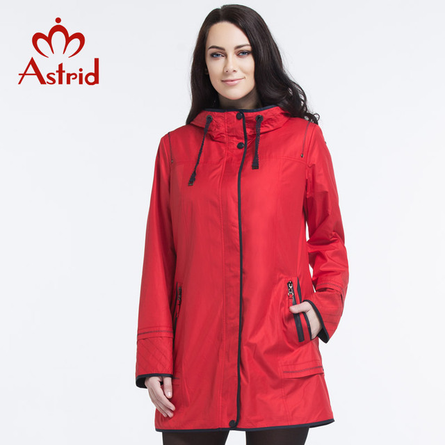 Astrid 2016 New Spring Women High Quality Fashion Trench Coat For Women Hooded Plus Size Outwear L XL 2XL 3XL 4XL 5XL AS-2617