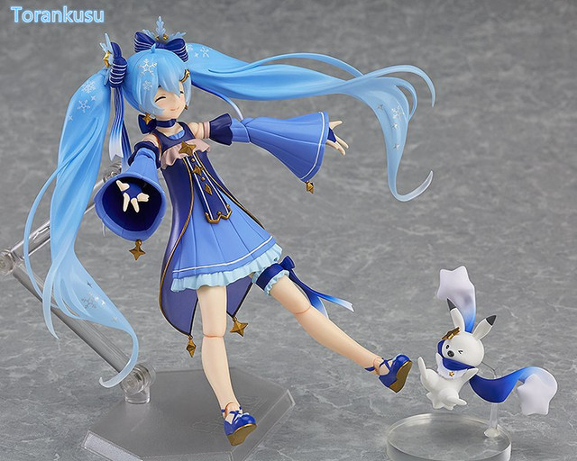 Hatsune Miku Action Figures Twinkel Snow Figma EX037 PVC Figure Toy 140mm Anime Hatsune Miku Collectible Model Doll 3