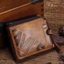 Genuine Leather Zipper Wallet For Men
