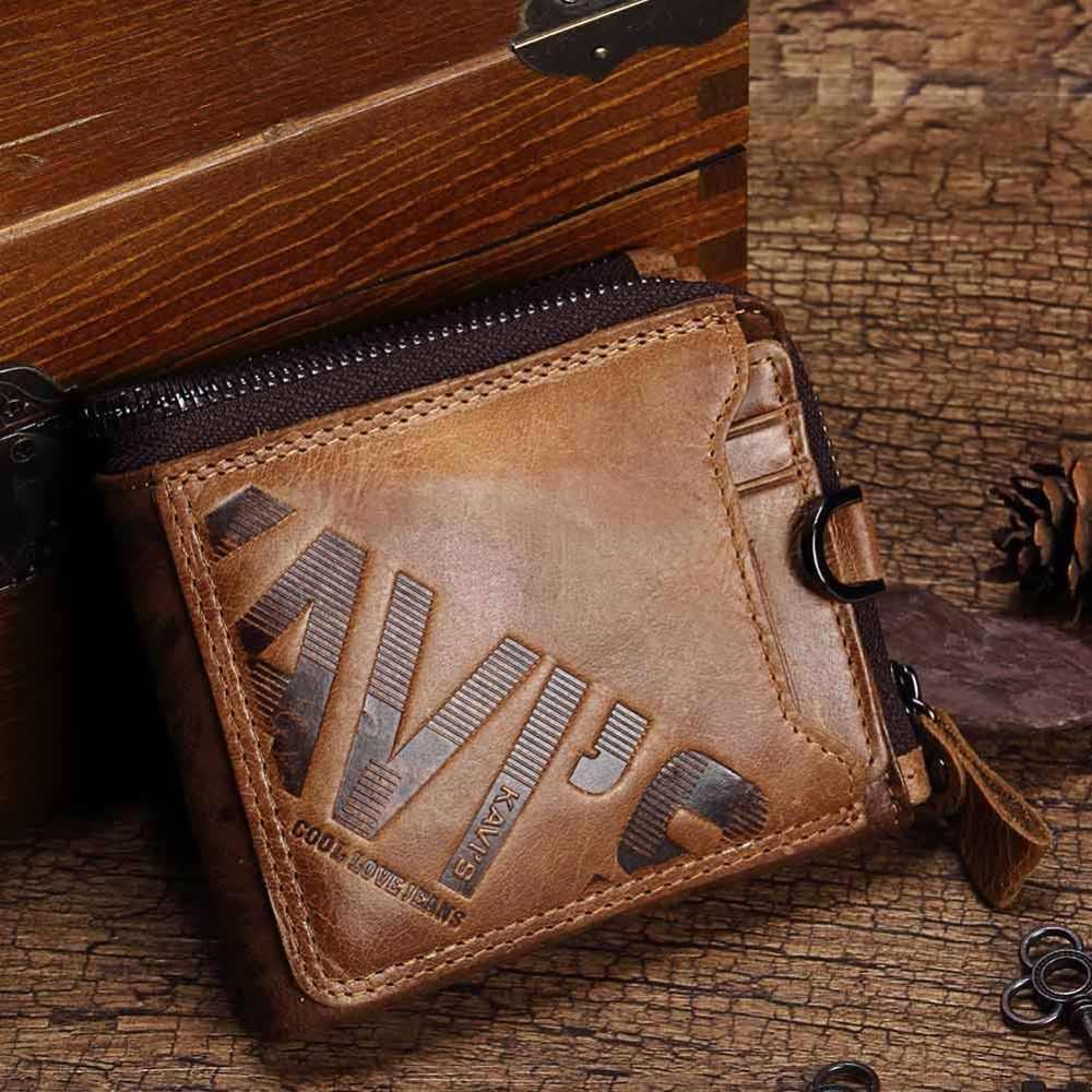 KAVIS Crazy Horse кошелек из натуральной кожи мужской кошелек мужской Cuzdan Walet Portomonee портфель Perse Маленький Карманный Кошелек