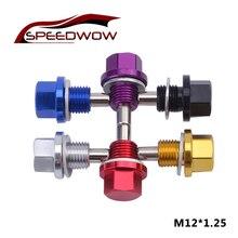 Tapón magnético de drenaje de aceite Speedwow, tuerca de drenaje de sumidero M12 * 1,25, tornillo de drenaje de aceite, tapón de drenaje de aceite para Toyota/Nissan