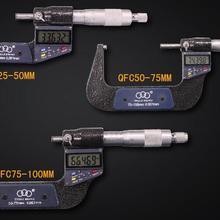"""Автоматического выключения """"-1""""(0-25 мм) 7-ключ цифровой дисплей микрометра дюймов/мм внешний диаметр суппорт внешний микрометр"""