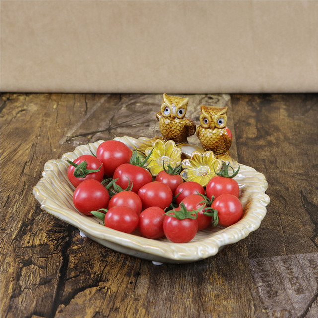 Porcelain Owl Lovers Figurine Fruit Plate Decorative Ceramics Nighthawk Miniature Candy Tray Tableware Craft Ornament Utensil & Porcelain Owl Lovers Figurine Fruit Plate Decorative Ceramics ...