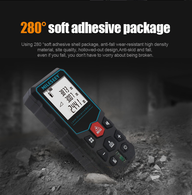 MiLESEEY Laser Distance Meter with Auto Laser Off and for Volume and Area Measurement 6