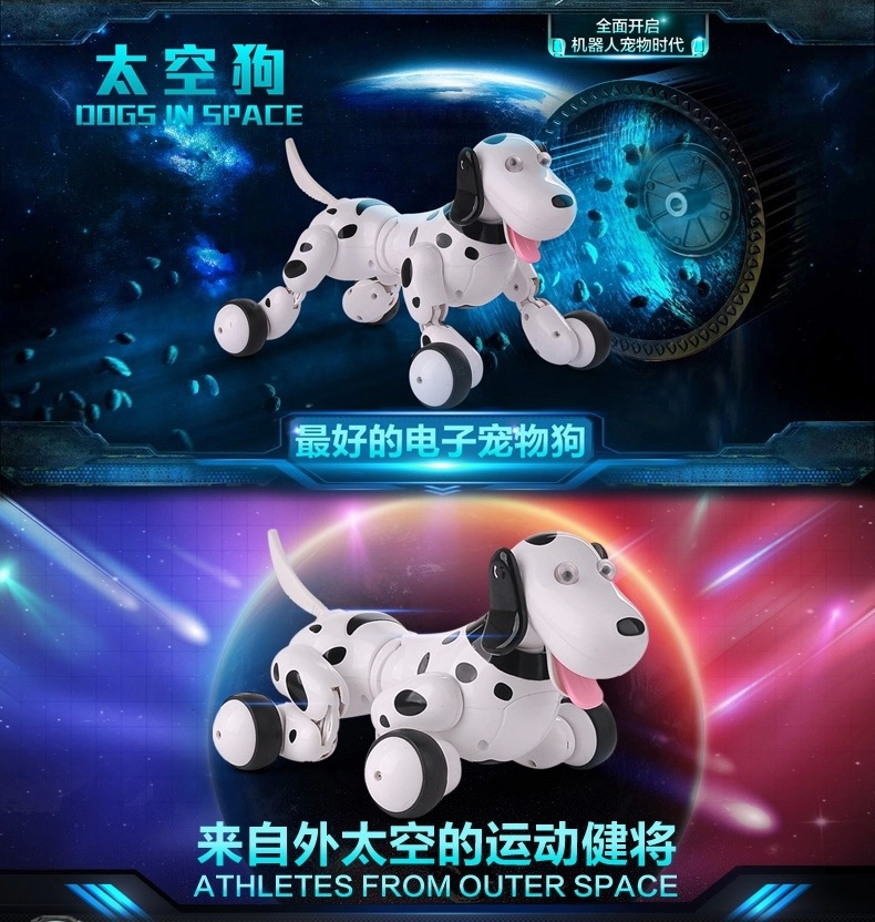Parent-Child Interaction 2.4G RC Robot Smart Dog 777-338S RC Intelligent Simulation Dog Multi-Function Intelligent Dog Pet Toy