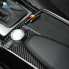 Скорость полета для Mercedes Benz C Class W204 E класса W212 аксессуары углеродного волокна салона панель подлокотника крышка отделочные украшения